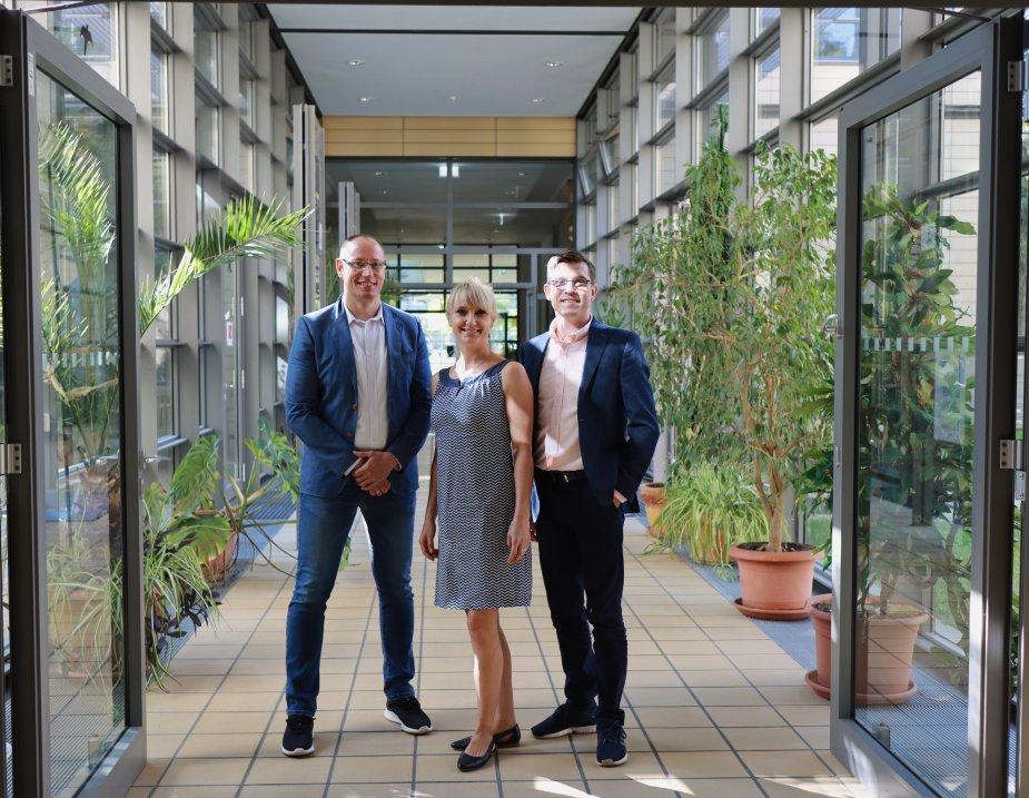 Das Team von Baumlink in Leipzig: Mike Feldmann (links), Lydia Jentsch und Christian Reimann.