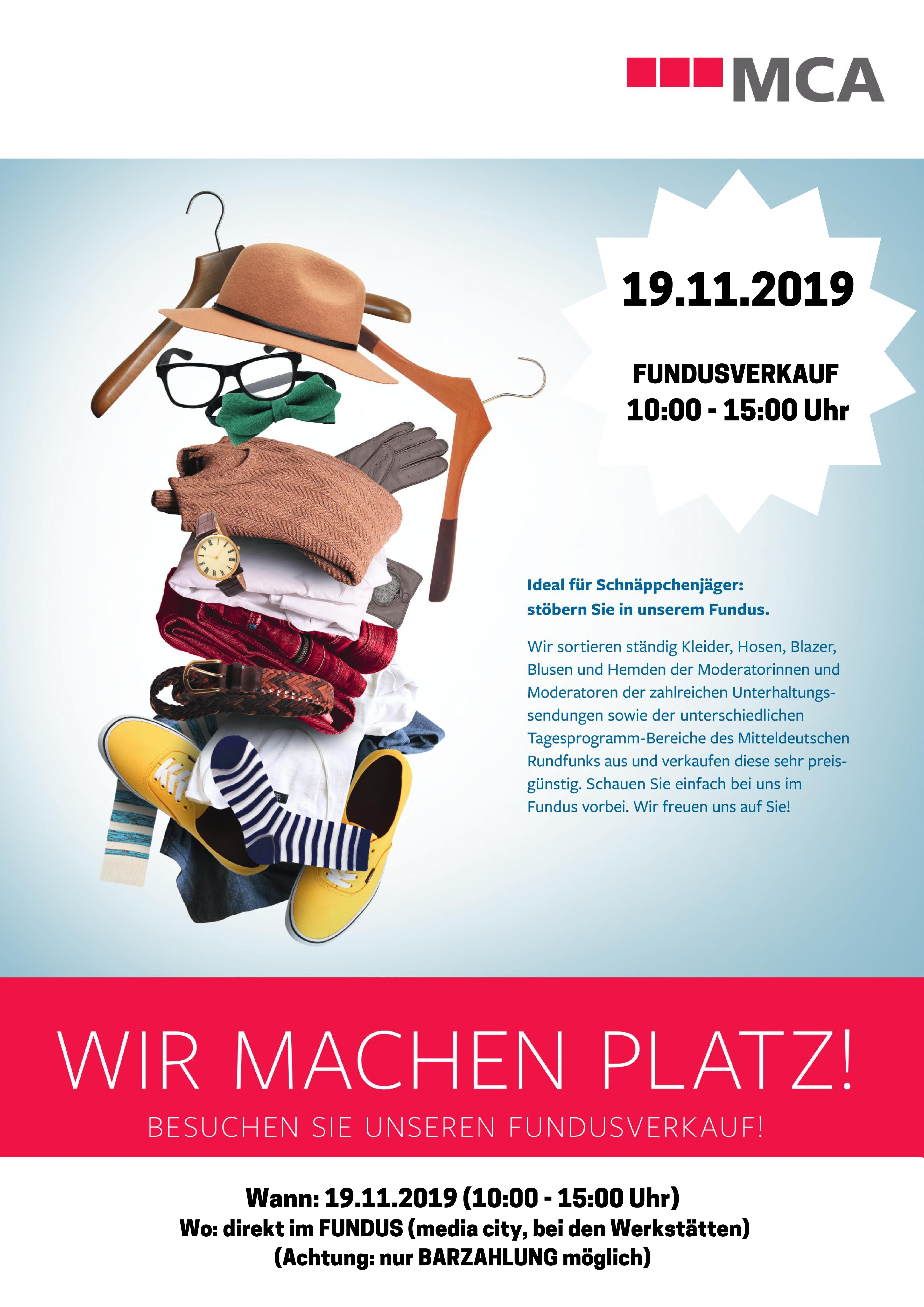 Fundusverkauf in der media city leipzig am 19.11.2019