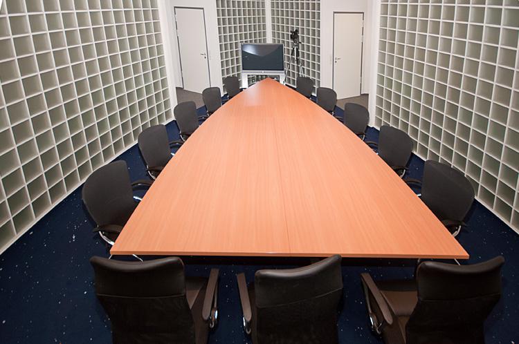 Der Konferenzraum in der Aufsicht